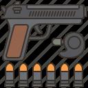 accuracy, bullet, gun, pistol, shooting icon