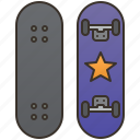 activity, extreme, skateboarding, sports, wheel icon