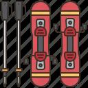 extreme, skiing, snow, sports, winter icon