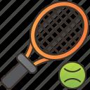 ball, court, racket, sports, tennis