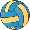 ball, indoor, play, sport, volleyball icon