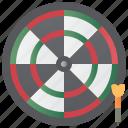 accuracy, arrow, darts, game, target icon