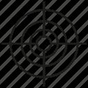 crosshair, dart, focus, game, target icon