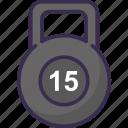 barbel, heavy, kg icon