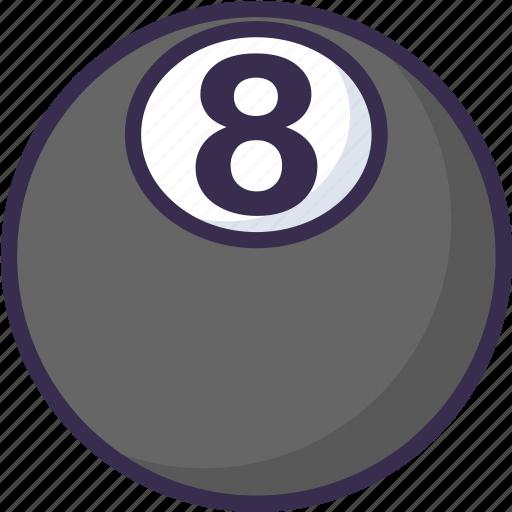 billiard, eight, tennis icon