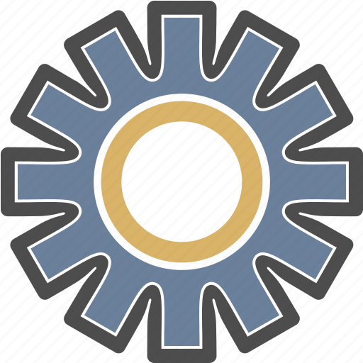 connect, gear, system icon