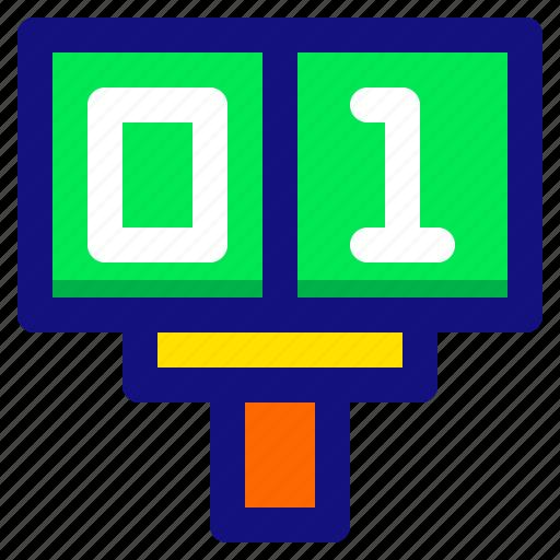 football, game, score, scoreboard, sport icon