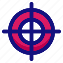 aim, arrow, goal, target icon