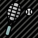 ball, game, raket, sport, tennis, tennisball