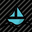 boat, game, proa, sail, sport icon