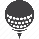 ball, game, golf, sport, tee icon