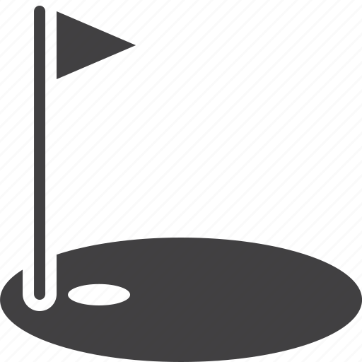 course, flag, golf, hole, sport icon