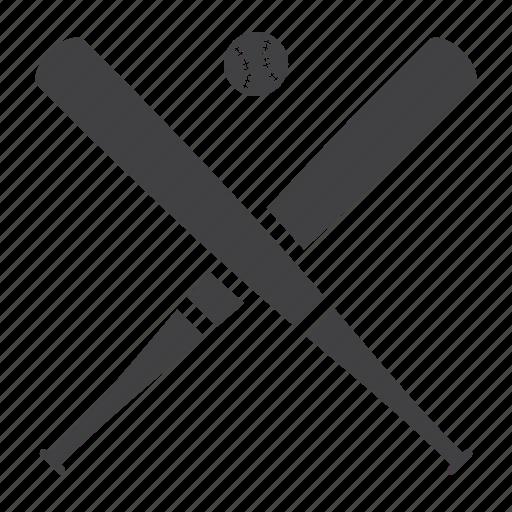 ball, baseball, bat, crossed, sport icon