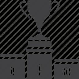 pedestal, podium, sport, trophy, victory, winners icon
