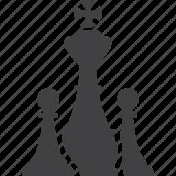 chess, chessmen, king, pieces, strategy icon