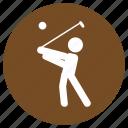 ball, game, golf, play, sport, stick, tournament
