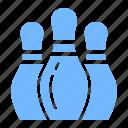 bowling, pin bowling, play, sport icon