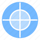 hunt, play, sport, target icon