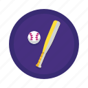 baseball, baseball bat, bat, sport, sports icon