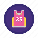 singlet, sport, sports, twenty three, uniform icon