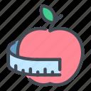 diet, apple, fruit, scale, healthy