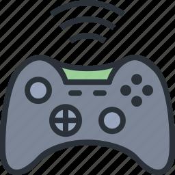 controller, game, joystick, wifi, wireless, xbox icon