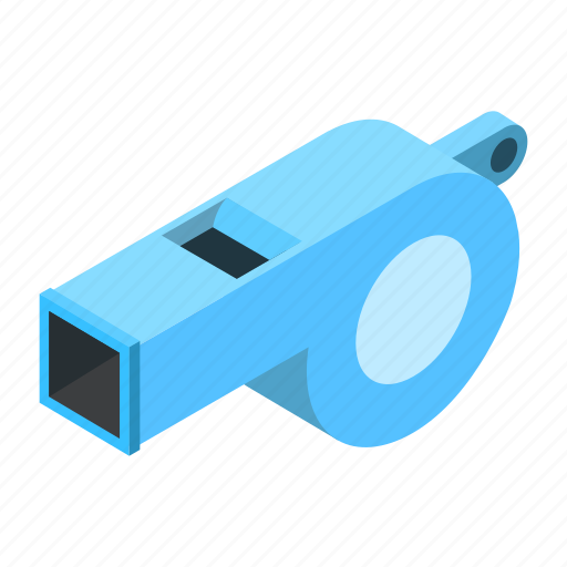 competition, equipment, isometric, judge, silhouette, tool, whistle icon