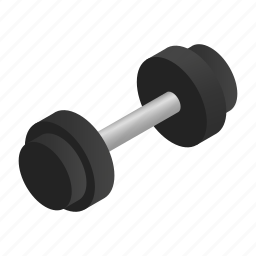 barbell, cion, dumbbell, equipment, heavy, isometric, weight icon