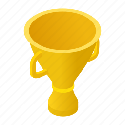 champion, cup, isometric, prize, success, trophy, win icon