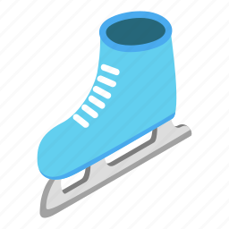 boot, cold, fun, ice, isometric, skate, skating icon