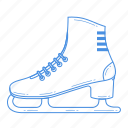 equipment, figure, ice skating, play, shoe, skates, sport icon