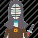 kendo, sword, battle, traditional, japanese