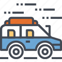 activities, car, offroad, outdoor, transport, vehicle icon