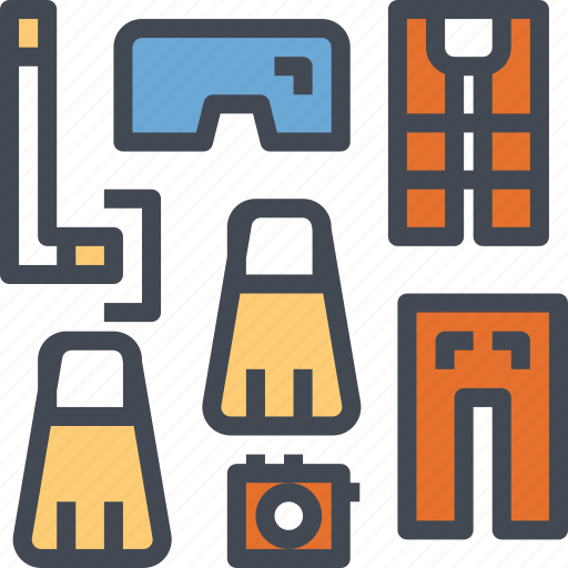 activities, diving, holiday, outdoor, snorkeling icon