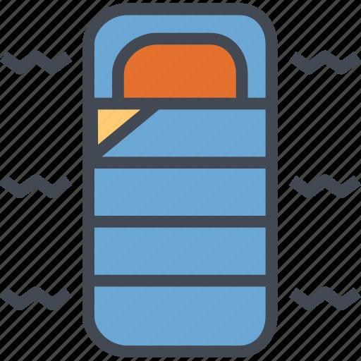 activities, bag, comfortable, outdoor, sleeping icon