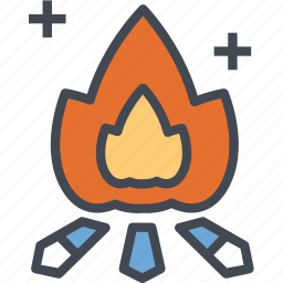 activities, campfire, camping, holiday, nature, outdoor icon