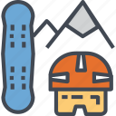 mountain, outdoor, high, skiing, sport, downhill, skier icon