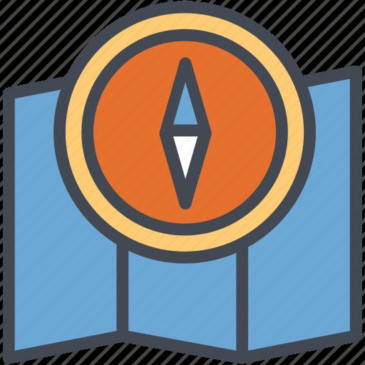 compass, international, map, tourism, travel icon