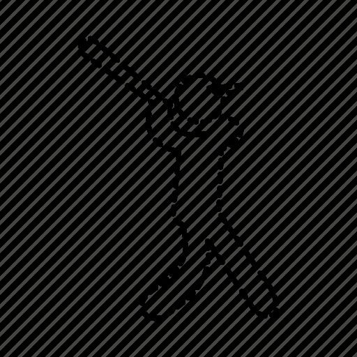 ball, baseball, bat, hit, player, posture, sport icon