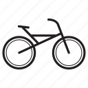 bicycle, bike, cycle, push-bicycle, ride icon