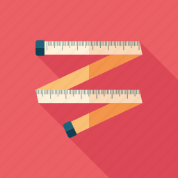 centimeter, inch, instrument, measure, overweight, ruler, scale icon