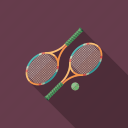 ball, equipment, game, racket, recreation, sport, tennis icon