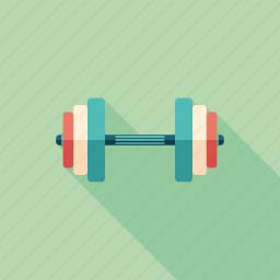 dumbbell, equipment, fitness, health, recreation, sport, training icon
