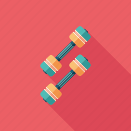 dumbbell, equipment, fitness, recreation, sport, training, weight icon