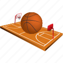 field, basketball, sport, basket, game, ball, sports
