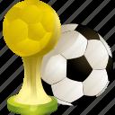 football, ball, prize, winner, award, soccer, achievement, sport