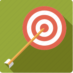 archery, arrow, sports, target icon