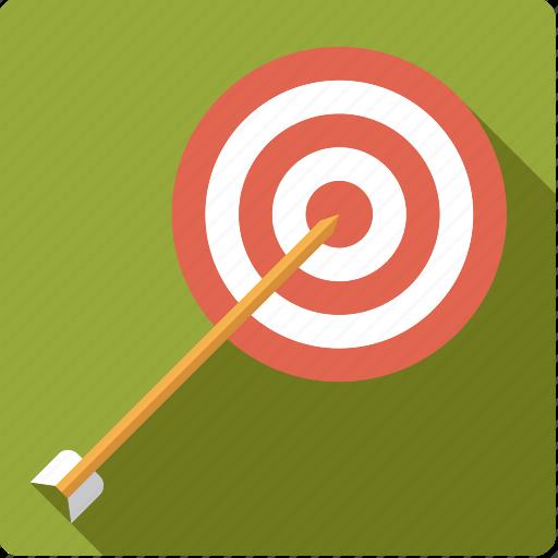 archery, arrow, sports, target icon