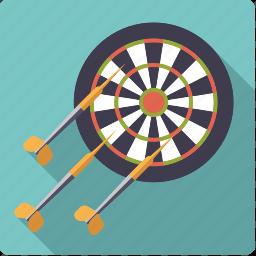 arrow, bulls eye, dart, darts, pub sports, sports, target icon