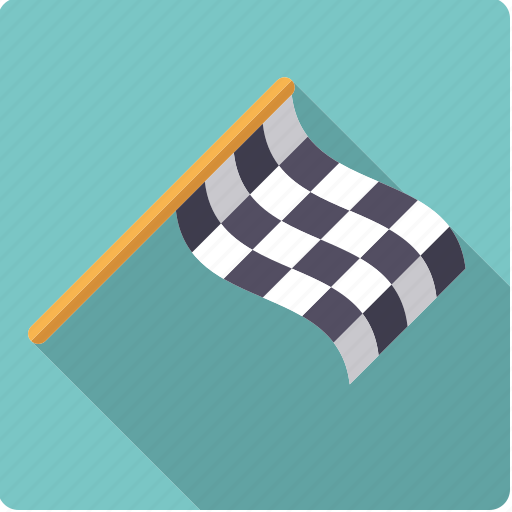 checkered, finish, flag, motor sports, racing, sports icon